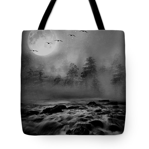 First Snowfall Geese Migrating Tote Bag