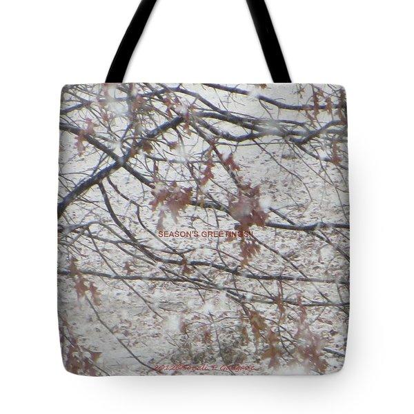 First Snowfall  Tote Bag by Sonali Gangane