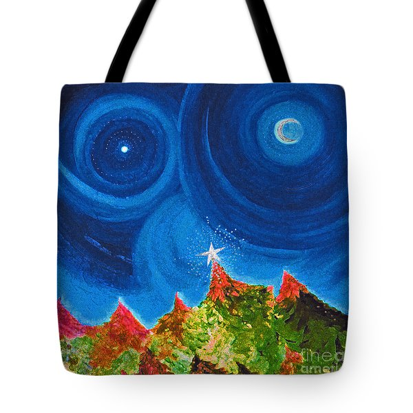 First Star Christmas Wish By Jrr Tote Bag by First Star Art