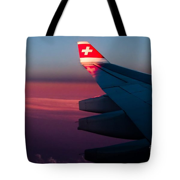 First Sunlight Tote Bag by Syed Aqueel