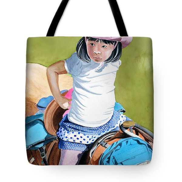 First Time Tote Bag by Debbie Hart