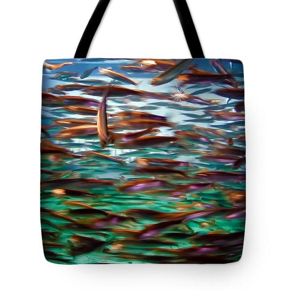 Fish 1 Tote Bag by Dawn Eshelman