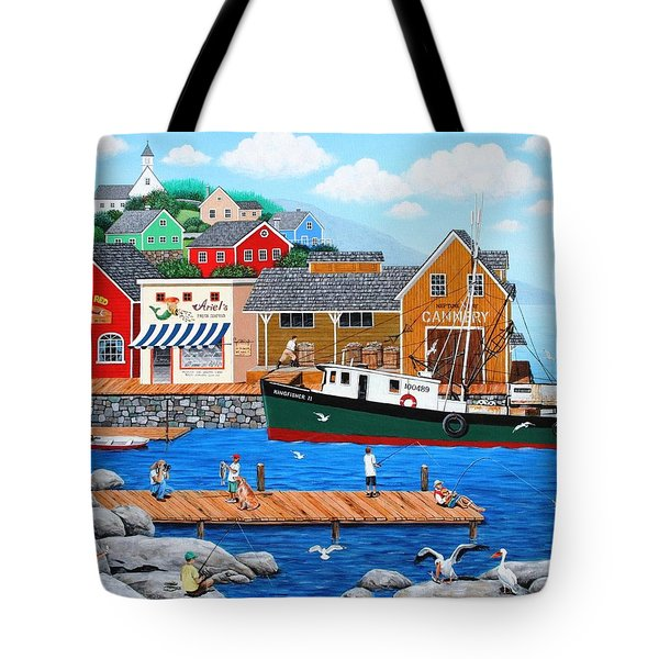 Fish And More Fish Tote Bag by Wilfrido Limvalencia