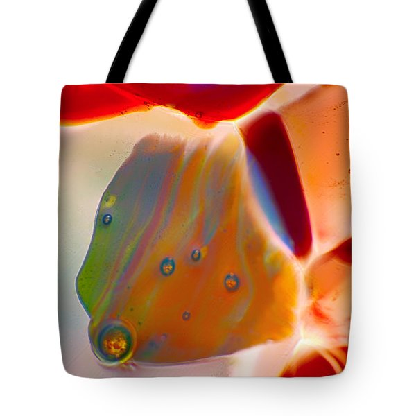 Fish Blowing Bubbles Tote Bag by Omaste Witkowski