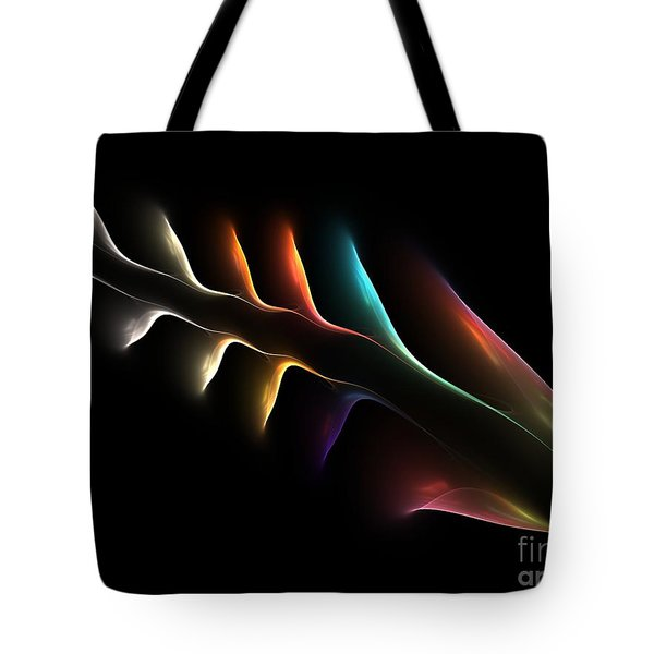 Tote Bag featuring the digital art Fish Bones by Greg Moores