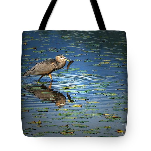 Fish For Dinner Tote Bag by Sharon Talson