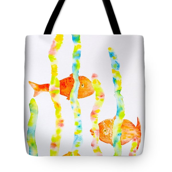 Tote Bag featuring the painting Fish Fun by Michele Myers