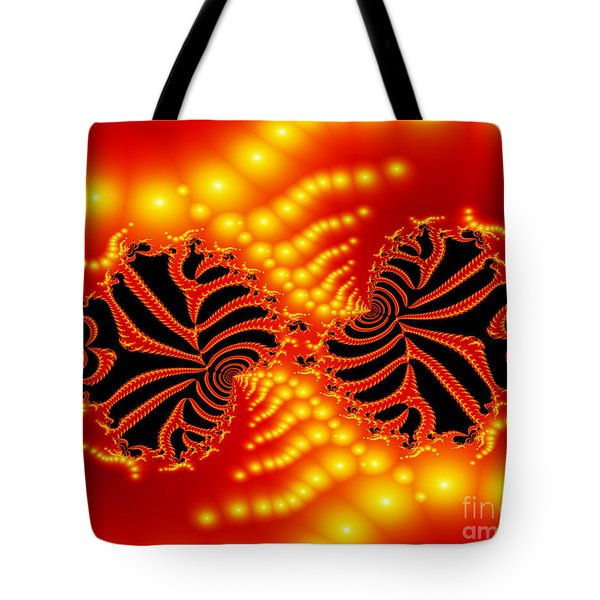 Tote Bag featuring the digital art Anger by Hai Pham