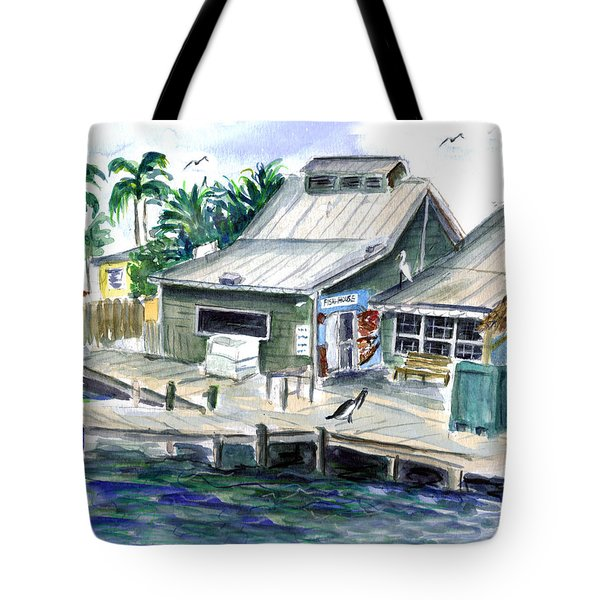 Fish House Tote Bag