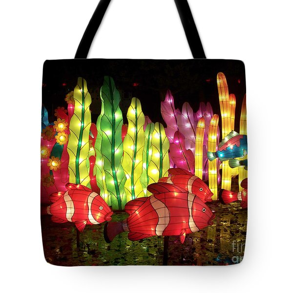 Fish In The Lagoon Tote Bag
