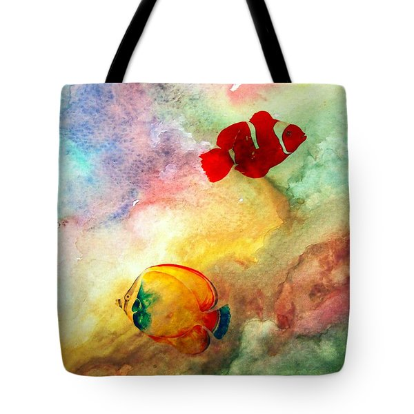 Tote Bag featuring the photograph Fish In The Sea by Athala Carole Bruckner