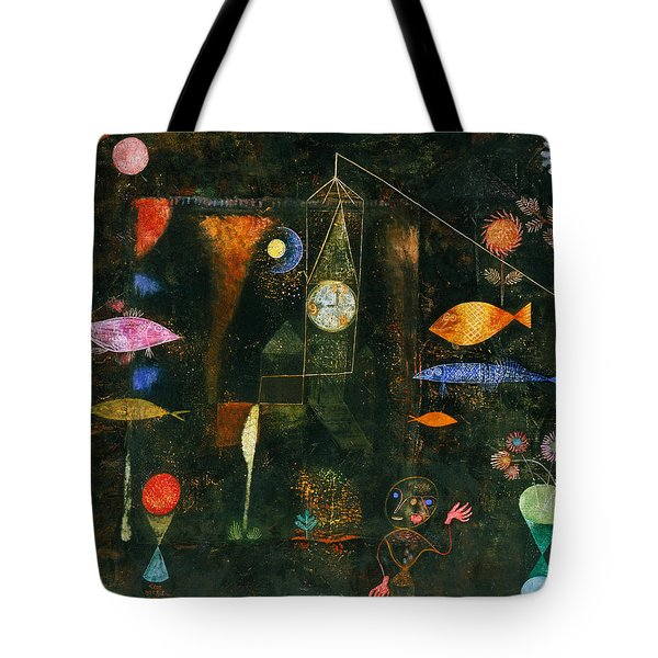 Tote Bag featuring the painting Fish Magic by Paul Klee