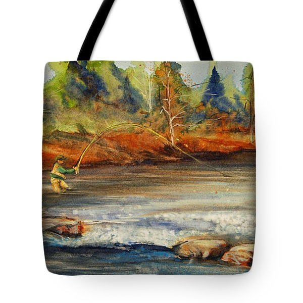 Fish On 2 Tote Bag by Jani Freimann