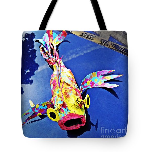 Fish Out Of Water Tote Bag by Sarah Loft