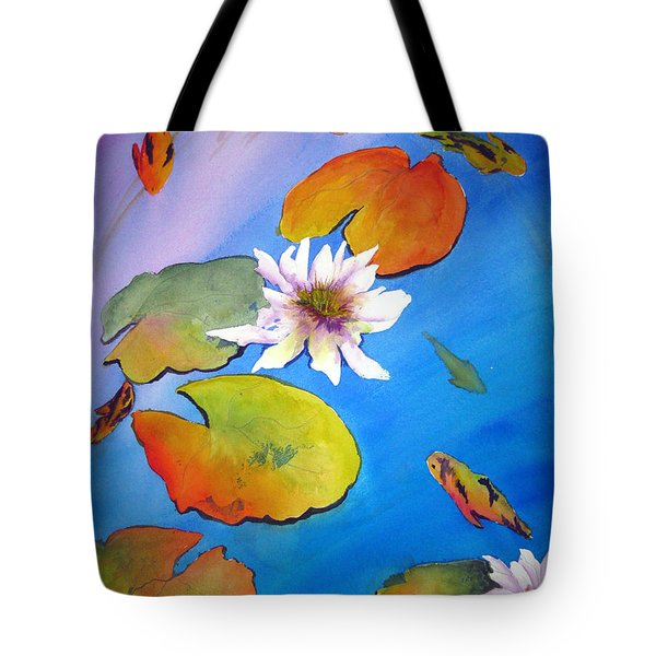 Fish Pond I Tote Bag by Lil Taylor