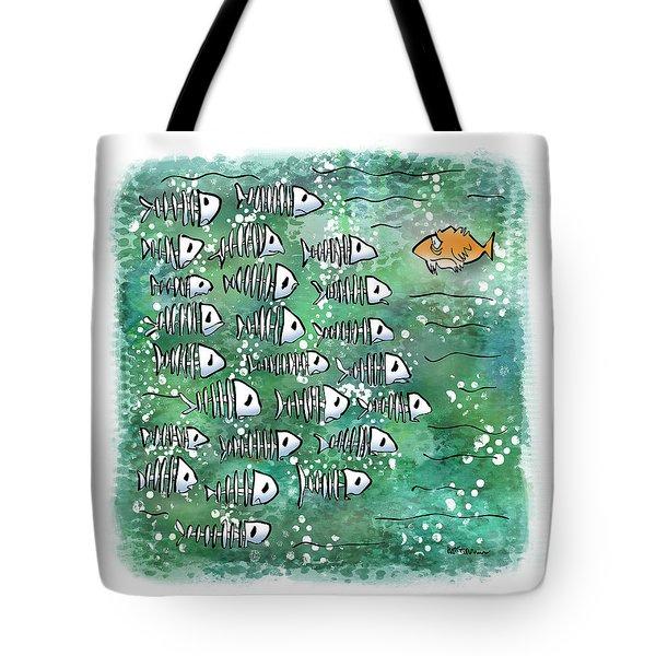 Fish School Reunion Tote Bag
