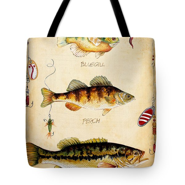 Fish Trio-c Tote Bag by Jean Plout