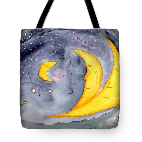 Fisher Moon Tote Bag