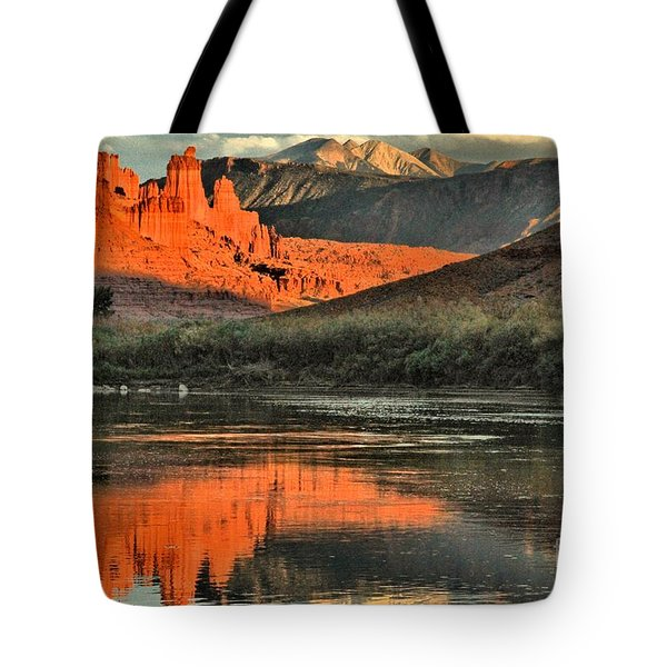 Fisher Towers In The Colorado Tote Bag by Adam Jewell