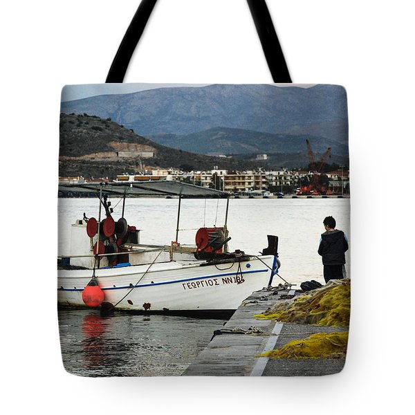 Fisherman And Son Tote Bag