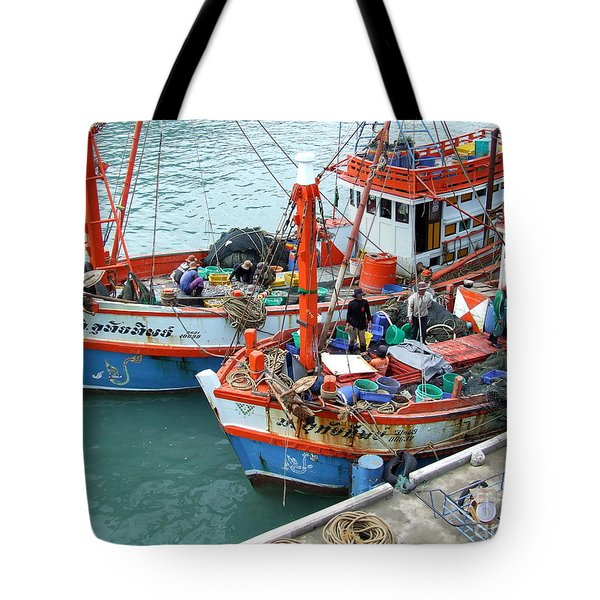 Fisherman Tote Bag by Andrea Anderegg