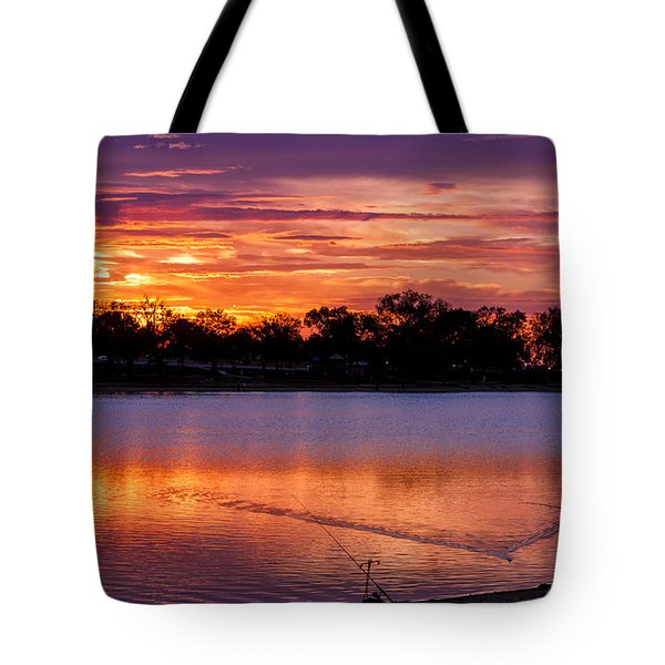 Fisherman At Sunrise Tote Bag