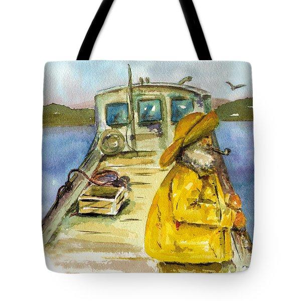 Fisherman Half Moon Bay Tote Bag