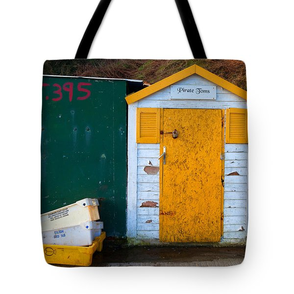 Fisherman Hut At The Harbour, Tramore Tote Bag