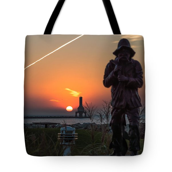 Fisherman Sunrise Tote Bag