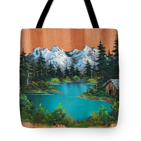 Fisherman's Cabin Tote Bag by C Steele