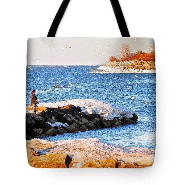 Fishermans Cove Tote Bag by Frozen in Time Fine Art Photography