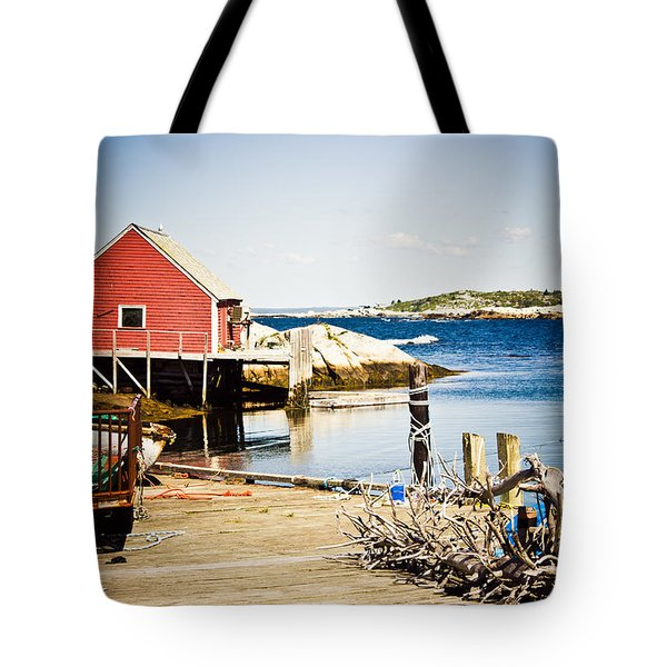Tote Bag featuring the photograph Fisherman's Cove by Sara Frank