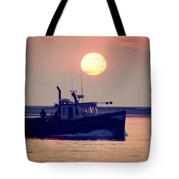 Fishermans Morning Tote Bag