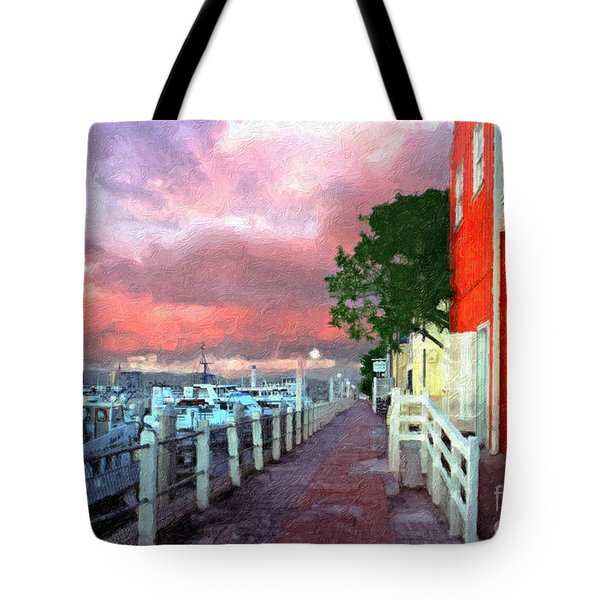 Tote Bag featuring the photograph Fisherman's Village Marina Del Mar Ca by David Zanzinger