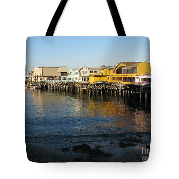 Tote Bag featuring the photograph Fisherman's Wharf by James B Toy