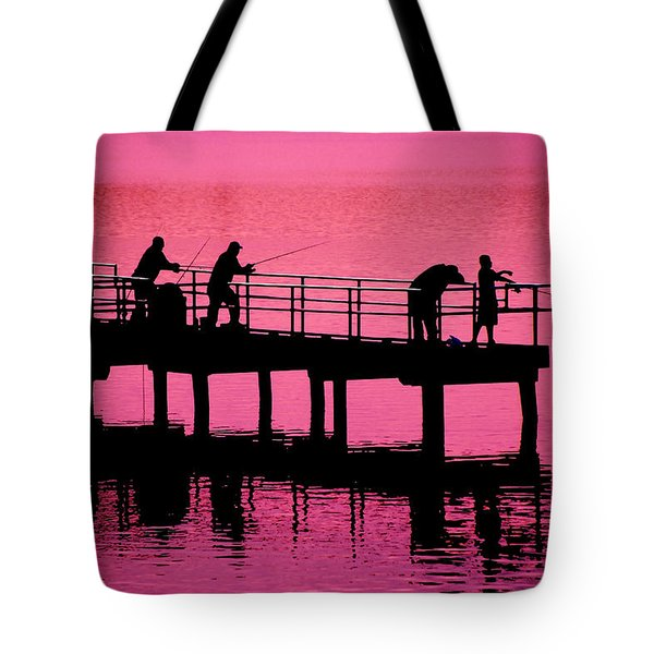 Tote Bag featuring the photograph Fishermen by Raymond Salani III