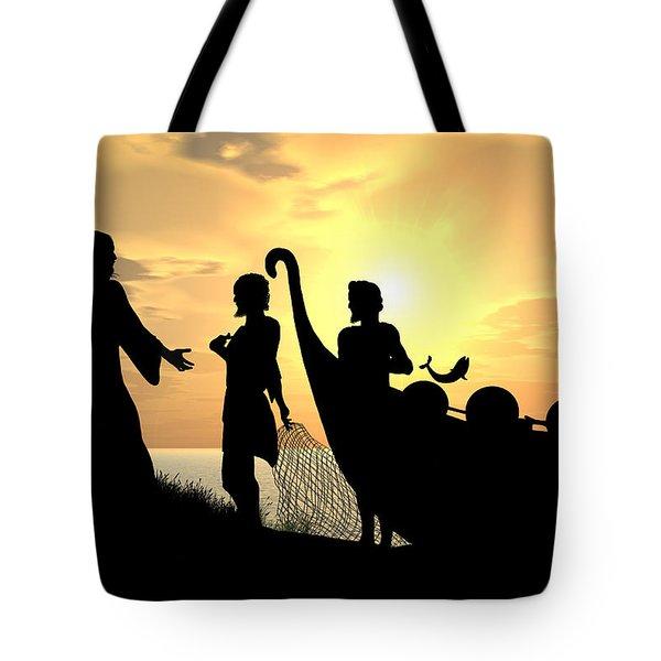 Fishers Of Men Tote Bag by Kim Freitas