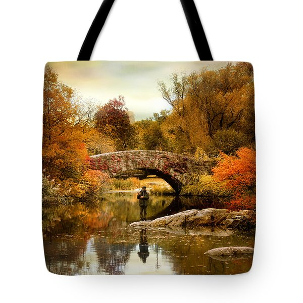 Tote Bag featuring the photograph Fishing At Gapstow by Jessica Jenney