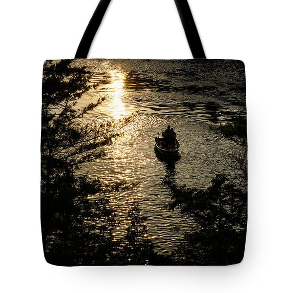 Fishing At Sunset - Thousand Islands Saint Lawrence River Tote Bag