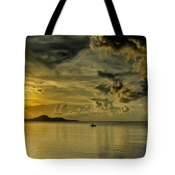 Fishing Before Dark Tote Bag