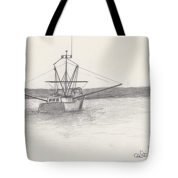 Fishing Boat Tote Bag by David Jackson