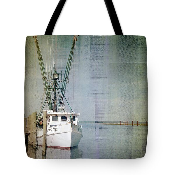 Fishing Boat In Chincoteague Tote Bag