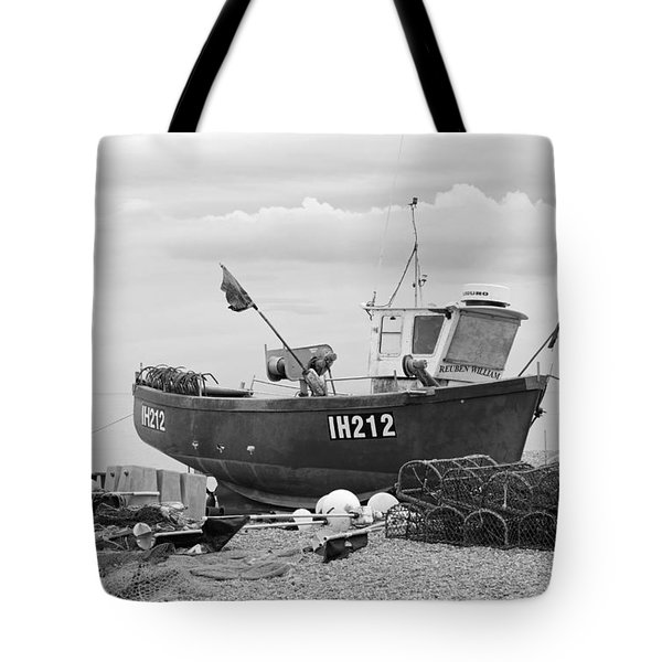 Fishing Boat Tote Bag