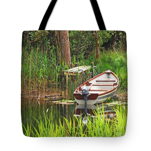Tote Bag featuring the photograph Fishing Boat by Mary Carol Story