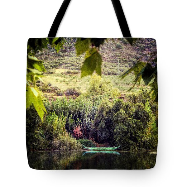 Fishing Boat On The River Douro Tote Bag by Lynn Bolt