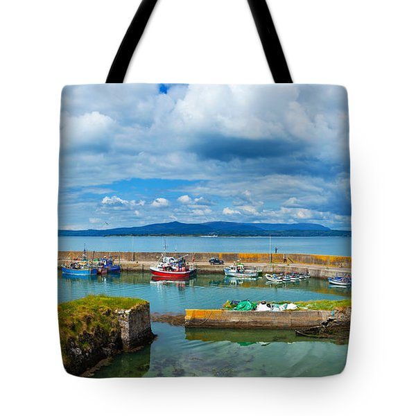 Fishing Boats At A Harbor, Helvick Tote Bag
