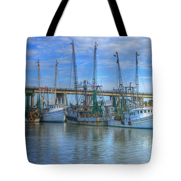 Fishing Boats At The Dock Tote Bag