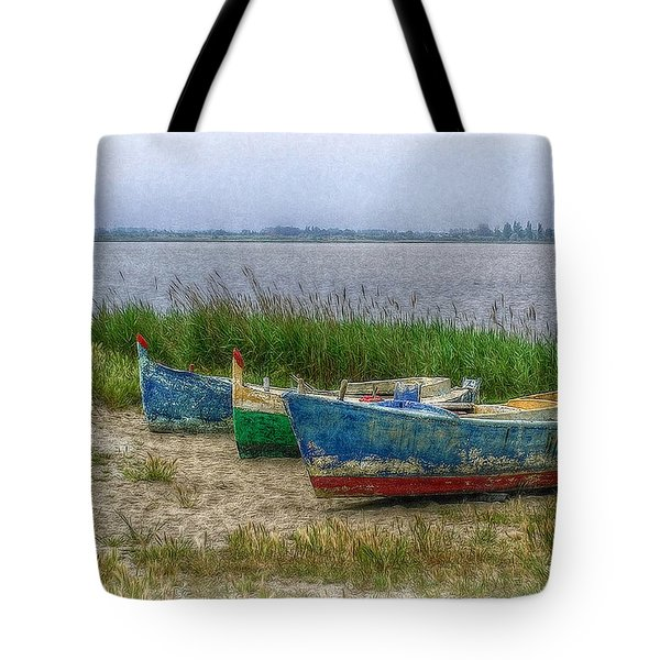 Tote Bag featuring the photograph Fishing Boats by Hanny Heim