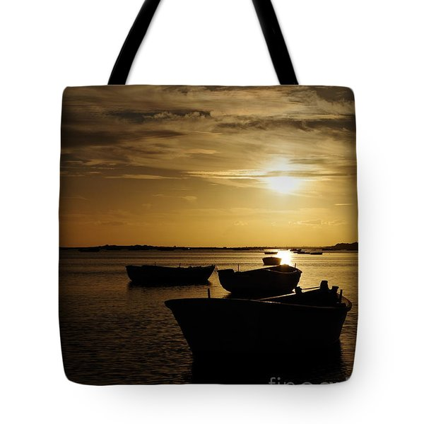 Fishing Boats In Cacela Velha Tote Bag