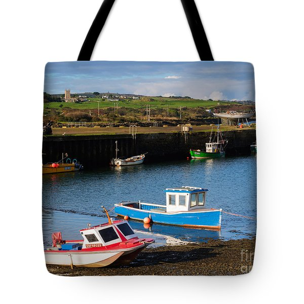 Fishing Boats In The Harbour At Hayle Tote Bag by Louise Heusinkveld